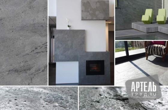 Каменный шпон Slate Lite Silver gray