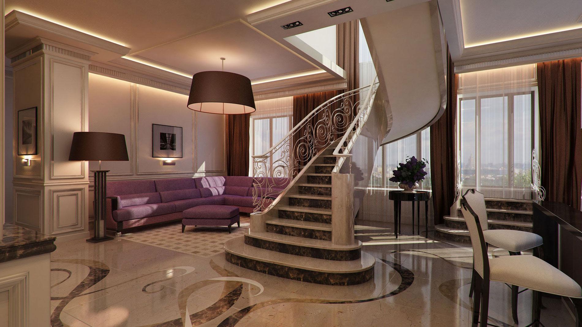 Элитный ремонт квартиры в классическом стиле